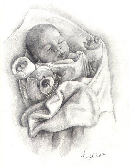 baby gezeichnet
